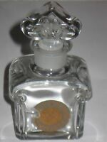 "Vintage Guerlain Baccarat Glass Perfume Bottle Mitsouko - 2 OZ - 4 3/4"" Ht - #2"