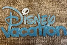 Disney Vacation Dark Blue  Glitter Titles For 12x12 Scrapbooks