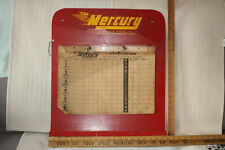 Vintage 1949 The Mercury Shuffleboard Scorer & No Gambling Permitted