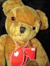 "ANTIQUE RARE EYES VINTAGE PEDIGREE IRELAND HUGE 28"" GROWLER TEDDY BEAR BELL EAR"