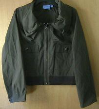 Women's Simply Vera Vera Wang Green/Gray 2 Pocket Windbreaker Jacket L