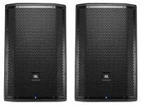 """(2) JBL PRX812W 12"""" 1500 Watt Powered PA DJ Speakers Monitors w/ DSP/WiFi/EQ"""