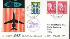 B0198- 1er  LIAISON AERIENNE   STOCKHOLM  ROME   SAS