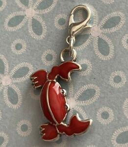 Brighton Red Crab Colorful Two-Sided Beach Lake Shell Enamel Custom ABC Charm