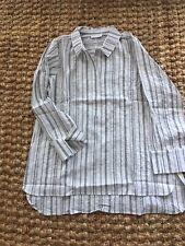 Habitat Cotton White Striped Tunic .Size  M.NWT.