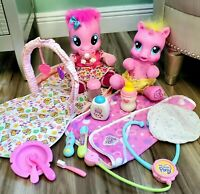 2007 My Little Pony Baby Make Me Better Rarity Walking Pinkie Pie Carry Set Lot