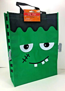 NEW Spooky Village FRANKENSTEIN Reusable TOTE Halloween Candy Treat GIFT BAG