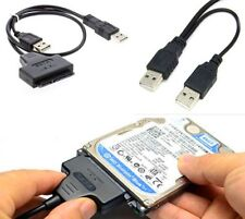 """2.5"""" Hard Disk Drive SATA 22Pin to USB 2.0 Powered Data Cable Adapter For PC US"""