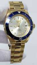 Invicta Pro Diver 24 Jewels Automatic Watch Silver Dial Gold Men's Watch 9743 SD