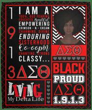 Black Proud 1913 Delta Sigma Quilt Blanket, Theta Sorority Girl Quilt Blanket