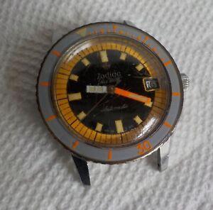 Vintage 1960s Zodiac Sea Wolf Wristwatch Watch Divers Automatic AS-FOUND Mens