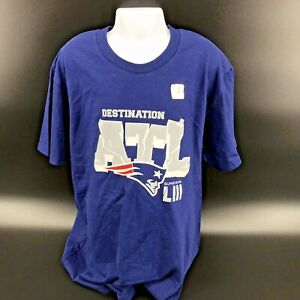 Patriots Super Bowl LIII Champions Destination ATL Youth Medium T-Shirt -NEW -i