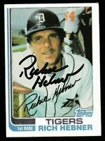 1982 Topps Rich Hebner Autographed Card - Detroit Tigers TTM - #603