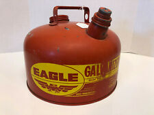 Eagle 2 1/2 Gallon Galvanized Gas Can Model 502 Made In Usa Nice L@K