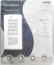 Harbor Breeze White Handheld Universal Ceiling Fan Remote Control #0745360