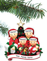 Personalized Christmas Tree Ornaments Family of 2 3 4 5 Holiday Gift Ornament