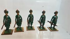 5 Metal Toy Soldiers- Indian Infantry (156)