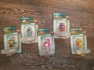 Basher Science CHEMISTRY LOT of 5 Figure & Game Cards NIB Educational Toy ACID