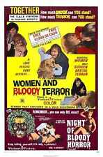 Combo Femmes et sanglante de terreur Poster 01 métal signe A4 12x8 aluminium