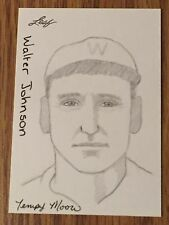 Walter Johnson 2012 Leaf Best of Baseball Sketch Card #1/1 - Washington Senators