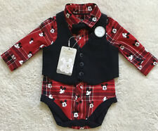 Primark Disney Baby Boy Mickey Mouse Smart Body Suit Three Piece Set Size 0-3