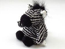 Russ ZIPPY ZEBRA Mini Bean Bag Plush 12cm Terry Cloth Stuffed Animal Soft Toy