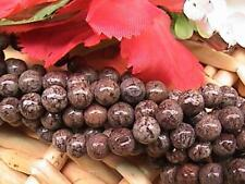 Natural Brown Snowflake Jasper, Round beads, 3 Sizes available: 4mm to 8mm