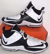 purchase cheap 62684 37c07 Nike Mens Size 14 Air Max Mvp Elite 2 3 4 Black White Baseball Cleats