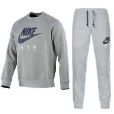 Nuevo Para Hombre Nike Air Max roundnick Polar Chándal Completo Gris 1172917aad03