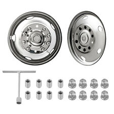 "For Ford F450 F550 19.5"" 10 LUG 05-20 Wheel Simulators Rim Liner Hubcap Covers"