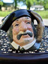 """Vintage1956 D6518 Royal Doulton Pottery Sancho Panca Character 2.5"""" Toby Jug Mug"""