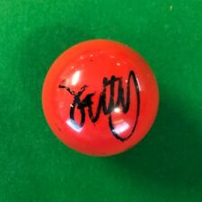 STEPHEN HENDRY HAND SIGNED RED SNOOKER BALL PROOF 3.