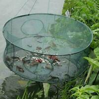 Automatic Fishing Net Trap Cage Round Shape Open For Crab Lobster Crayfish L4T7