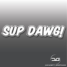 Funny Sup Dawg Novelty JDM Euro Laptop Sticker  Bumper Car Vinyl Decal Sticker