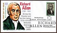 2016 RICHARD ALLEN ~ GLEN CACHET - FIRST DAY COVER ~ BLACK HERITAGE SERIES