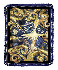 "DOCTOR WHO VINCENT VAN GOTH EXPLODING TARDIS NO SEW FLEECE BLANKET KIT 48"" x 60"""