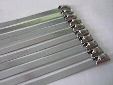 Metallkabelbinder 30x Stahl Metall Kabelbinder 520mm x 8mm Stahlband Stahlbinder
