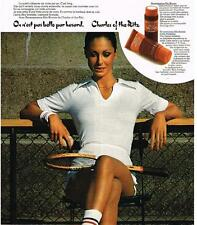 PUBLICITE advertising    1972   CHARLES OF THE RITZ  cosmétiques cremes solaires