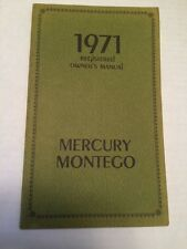 1971 MERCURY MONTEGO REGISTERED OWNERS MANUAL