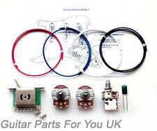 500k GRASSO Stratocaster Strat Wiring kit MINI POTS PUSH PULL POT 0.022uf ST