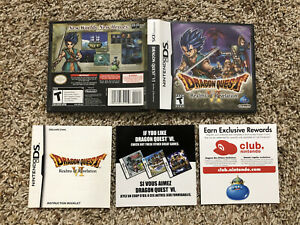 DRAGON QUEST VI REALMS OF REVELATION CASE, ART COVER & MANUAL ONLY - DS ,NO GAME