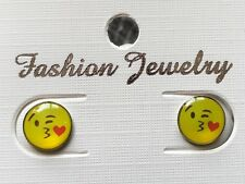Emoji stud novelty earrings party favor pin hat mothers day gift fun gift #25O