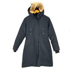 Canada Goose Kensington Black Coyote Fur Trim Parka Coat Women's XS Extra Small