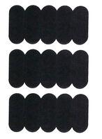 Self Adhesive Anti-Slip Soft Foam Nose Pads for Eyeglasses 15mm Black (15 Count)