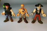 Imaginext Pirate Adventures Peg Leg & Billy Bones & Tattoo Figures Lot of 3