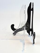 Classic Display Stand / Easel - Black & Clear: Plate, Photo, Print, Trophy, Tile