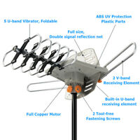 990++ Miles HDTV Outdoor Amplified Antenna 360 Rotor Digital HD TV UHF VHF USA