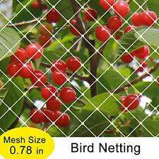 7x20Ft Garden Bird Netting Anti Bird Protection Net Fruit Vegetables Flower