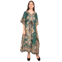 Gamla Print Hippie Boho New Women Caftan Kaftan Maxi Long Casual Dress