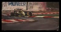 Original DEBUT Michael Schumacher 1991 Formula One F1 racing car painting 10x20
